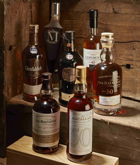 Whisky highlights Baghera/wines